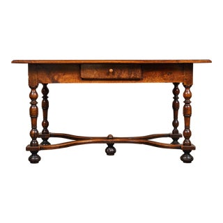 18th C. Louis XIII Walnut Library Table For Sale