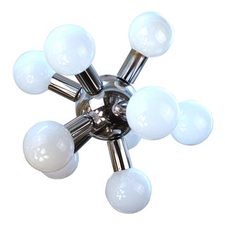 Atomic Age Molecular Chandelier For Sale