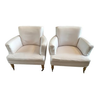 Transitional Quatrine Quinn Chairs - A Pair