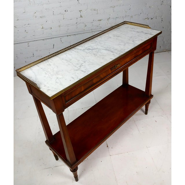 """French Style Vintage Marble top Credenza Console Table size 38 x 13 x 32"""" A beautiful piece that will add to your décor!"""