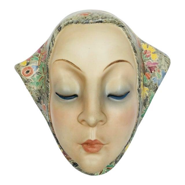Helen Koenig Scavini Lenci Torino Polychrome Pottery Mask For Sale