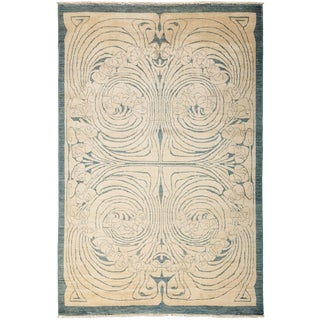 "Shalimar, Hand Knotted Art Nouveau Area Rug - 5' 1"" X 7' 8"" For Sale"