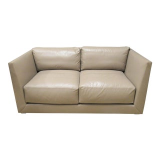 Donghia Modern Leather Sofa For Sale