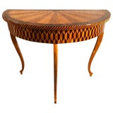 Image of 19th Century Art Deco Marquetry Console Table For Sale