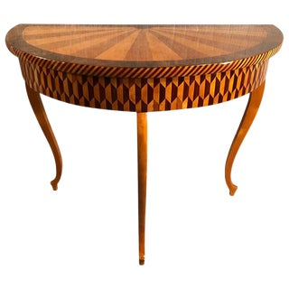 19th Century Art Deco Marquetry Console Table For Sale