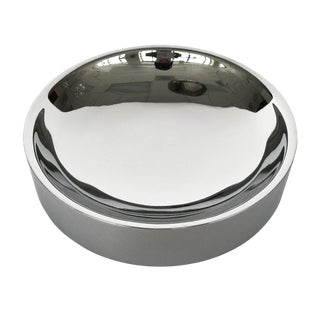 Chrome Modernist Scoop Catchall Bowl by Tsao Designs For Sale