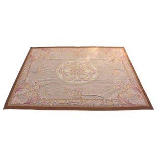 French Aubusson Style Rug For Sale
