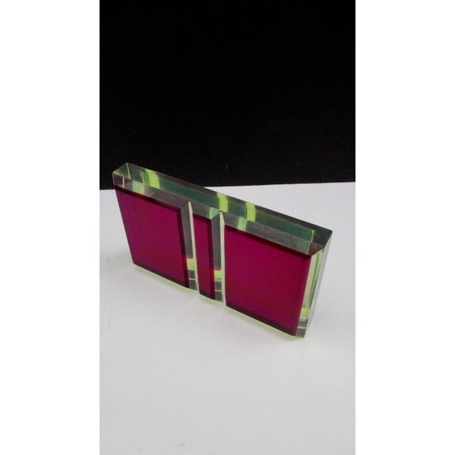 Late 20th Century Vasa Velizar Mihich Style Lucite Paperweight Sculpture Block For Sale - Image 5 of 13