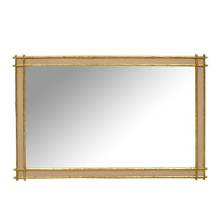 Friedman Brothers Vintage Hollywood Regency Faux Bamboo Wooden Wall Mirror