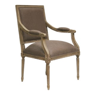 Audley Arm Chair in Aubergine For Sale