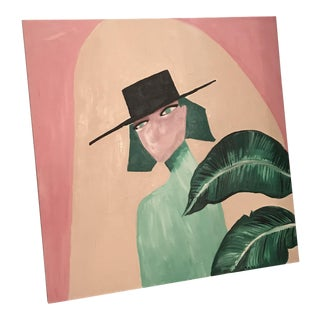 """""""Woman in the Hat"""" Painting For Sale"""