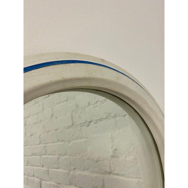 Antique White Vintage 1960s Nautical Porthole Mirror For Sale - Image 8 of 10