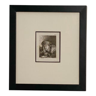 Late 18th Century Rembrandt Etching #35, by Francesco Novelli For Sale