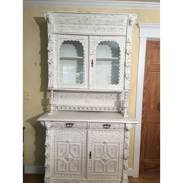 French Gothic Cabinet & Hutch - Image 4 of 8