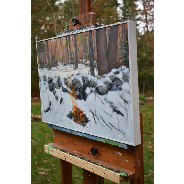 """""""Miles From Nowhere"""" Contemporary Acrylic Painting by Stephen Remick, Framed For Sale - Image 9 of 12"""