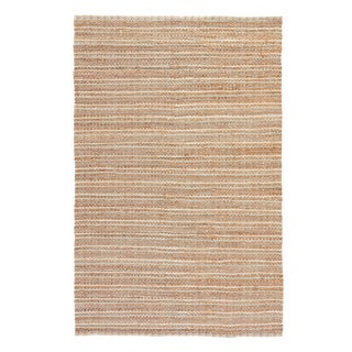 Jaipur Living Cornwall Natural Striped Beige/ Blue Area Rug - 9′ × 12′ For Sale