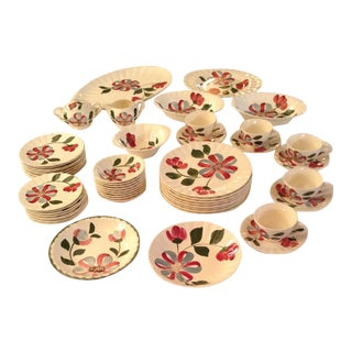 Blue Ridge Southern Potteries Whirligig Dinnerware - Set of 55 For Sale