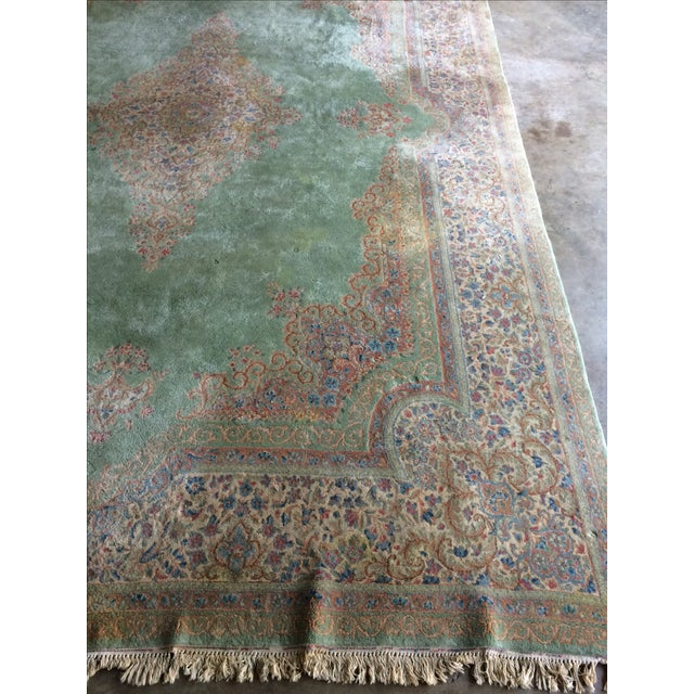 Traditional Iranian Handmade Wool Rug - 14′ × 10′ - Image 4 of 11