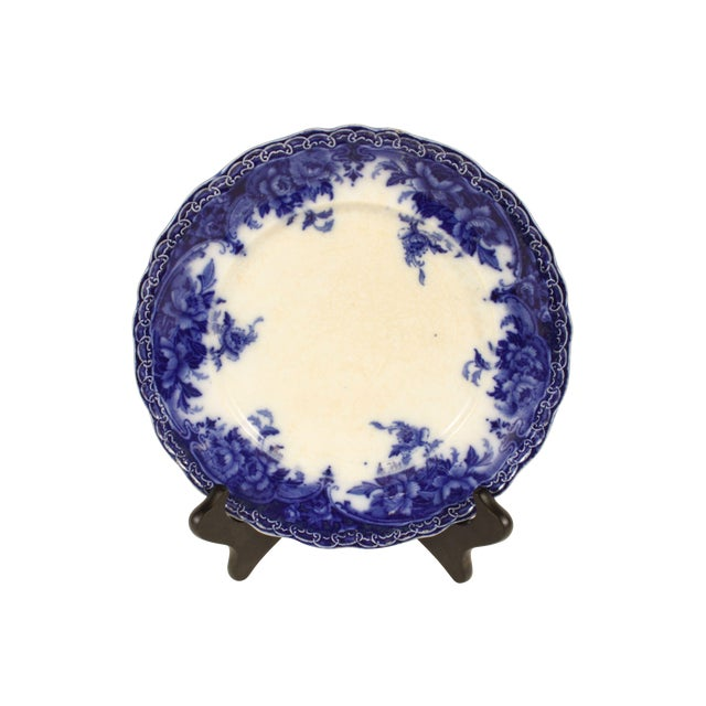 """Flow Blue """"Roma"""" Luncheon Plate - Image 1 of 3"""