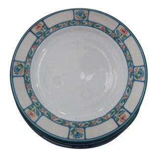 Tognana Italy Round Dinner Plates Floral Berries - Set of 6 For Sale