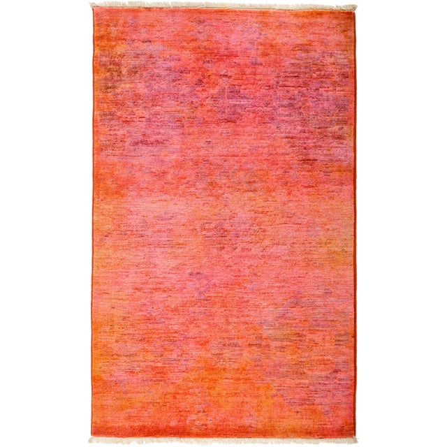 """Rebecca, Coral Vibrance Area Rug - 3' 2"""" X 5' 2"""" For Sale - Image 4 of 4"""