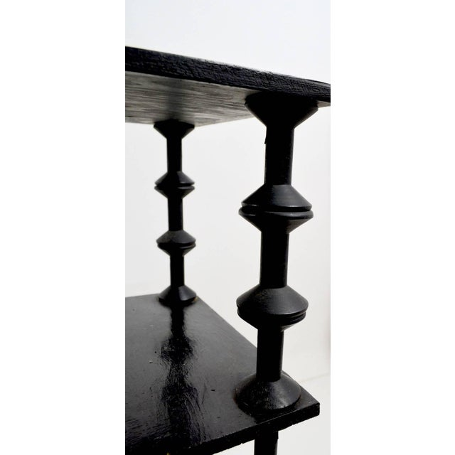Folky Architectural Spool Stand For Sale In New York - Image 6 of 7