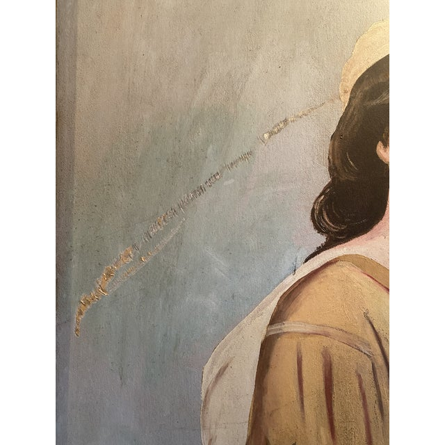 Canvas 1950s Antique Ruth Harvest Painting For Sale - Image 7 of 13