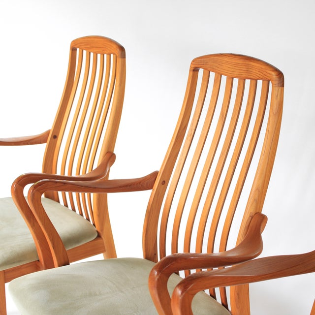 1960s Mid Century Modern Schou Andersen Teak Dining Chairs - Set of 2 For Sale In Charlotte - Image 6 of 9