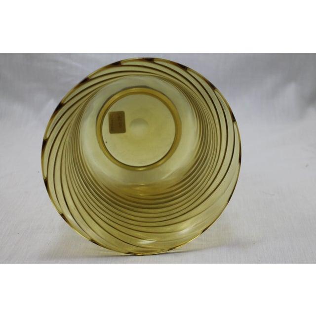 Art Glass Stunning Art Deco Steuben Glassworks Amber Colored Swirl Vase For Sale - Image 7 of 9