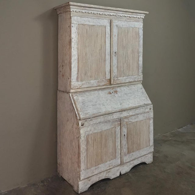 Gustavian (Swedish) 19th Century Swedish Painted Secretary For Sale - Image 3 of 13