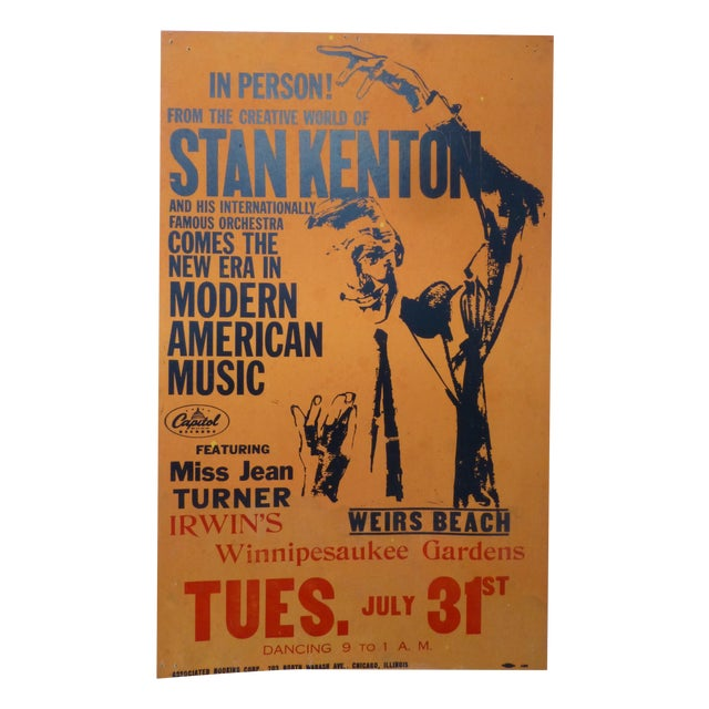1950s Stan Kenton Lobby Card Show Poster - Image 1 of 8