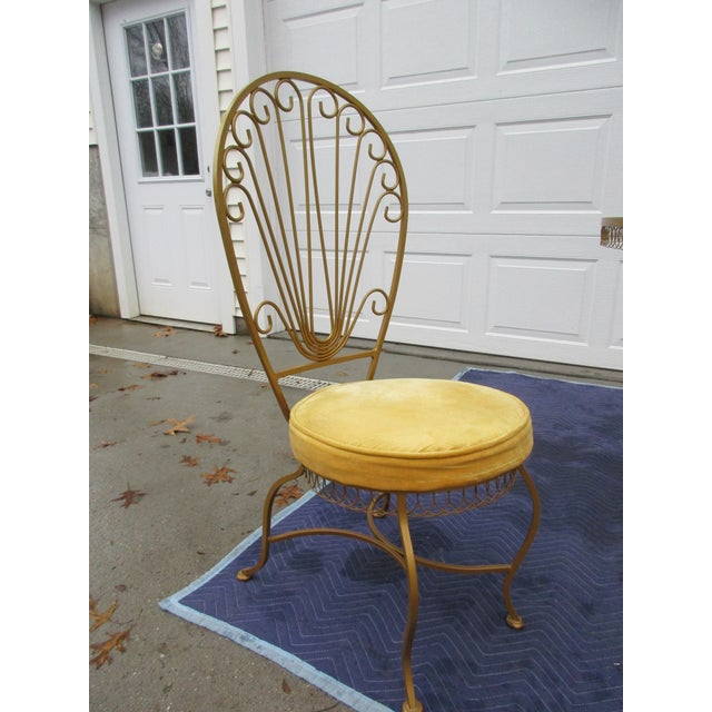 Mid 20th Century Vintage Hollywood Regency Bistro or Patio Set by Thinline For Sale - Image 5 of 13