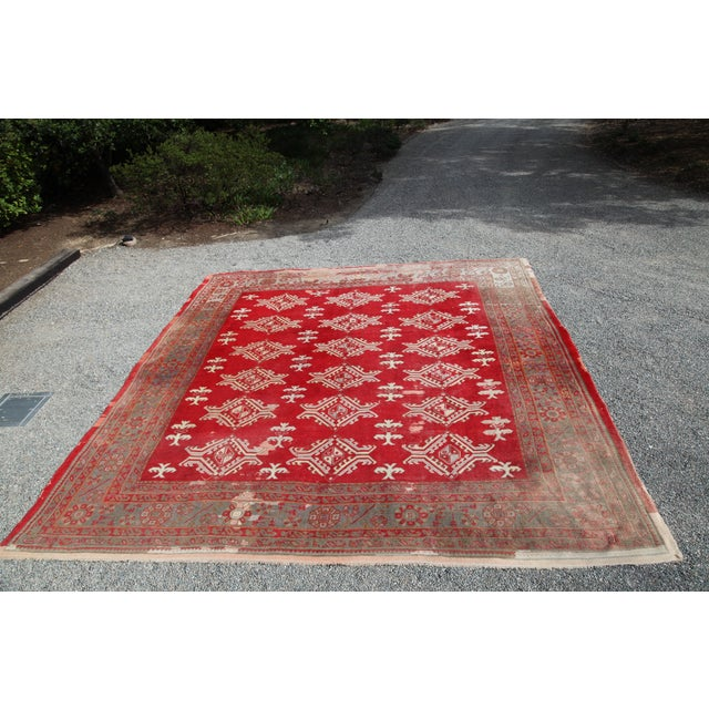 Large Vintage Turkish Wool Rug - 13′ × 14′6″ - Image 8 of 8