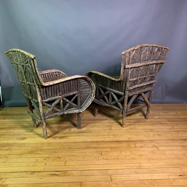 Pair of 1930s New Hampshire Adirondack Chairs For Sale In New York - Image 6 of 12