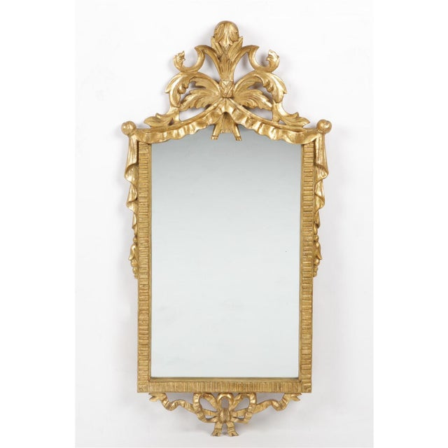 Italian Italian Neoclassical Style Carved Giltwood Mirror by Cannell & Chaffin For Sale - Image 3 of 3