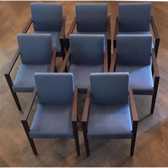 Ligne Roset Blue Dining Chairs - Set of 8 - Image 6 of 7