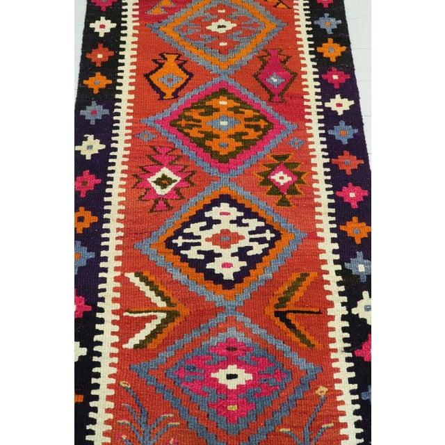 Vintage Turkish Kilim Runner Rug For Sale - Image 4 of 12