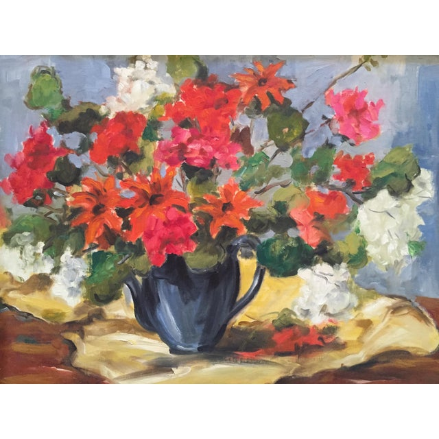 1950s Clifford Holmes Floral Still Life For Sale - Image 9 of 10