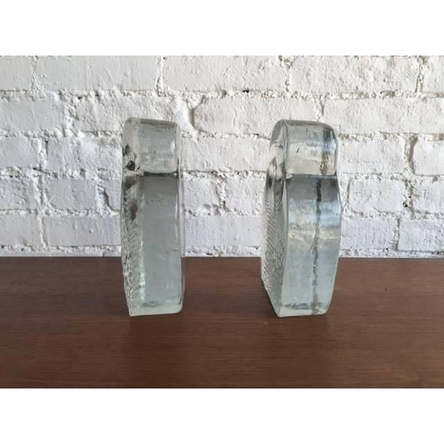 Mid-Century Glass Owl Bookends by Blenko - a Pair - Image 3 of 3