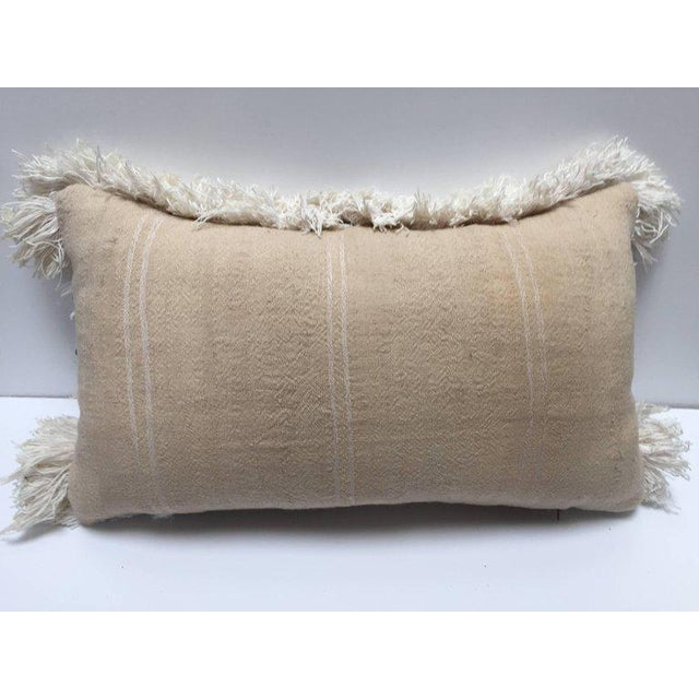 Great Bohemian Hippie chic stylish Moroccan wedding throw pillow. Made from Traditional Moroccan Berber handwoven white...
