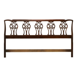 Mahogany Chippendale Style King Headboard For Sale