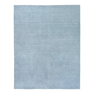 Exquisite Rugs Worcester Handwoven Wool Blue - 6'x9' For Sale