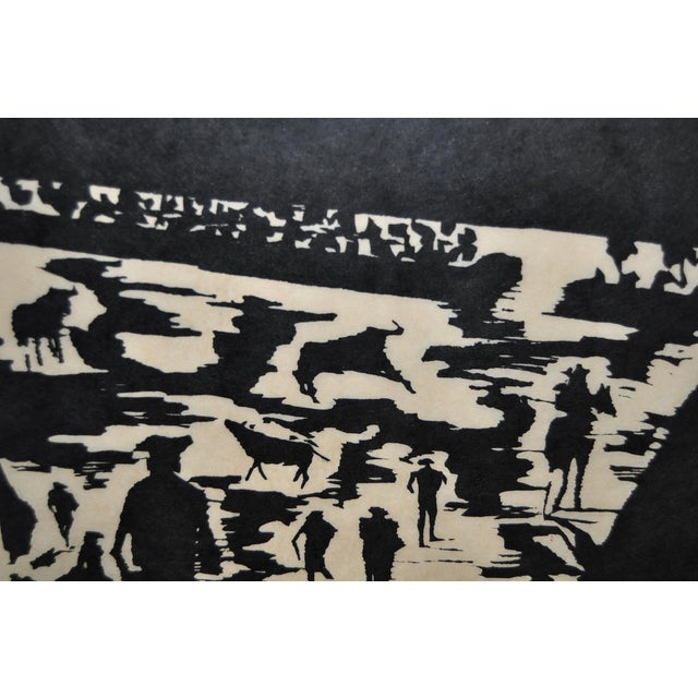 """Mid Century """"Don Quixote at the Paseo"""" Woodcut by Michael Christiana C.1961 For Sale In San Francisco - Image 6 of 11"""