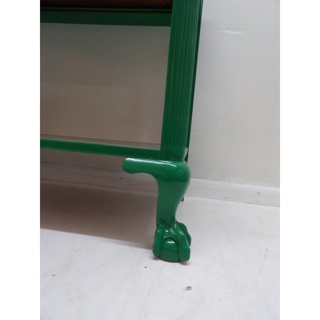 Antique Green Lacquer Wood Console Table For Sale In West Palm - Image 6 of 11