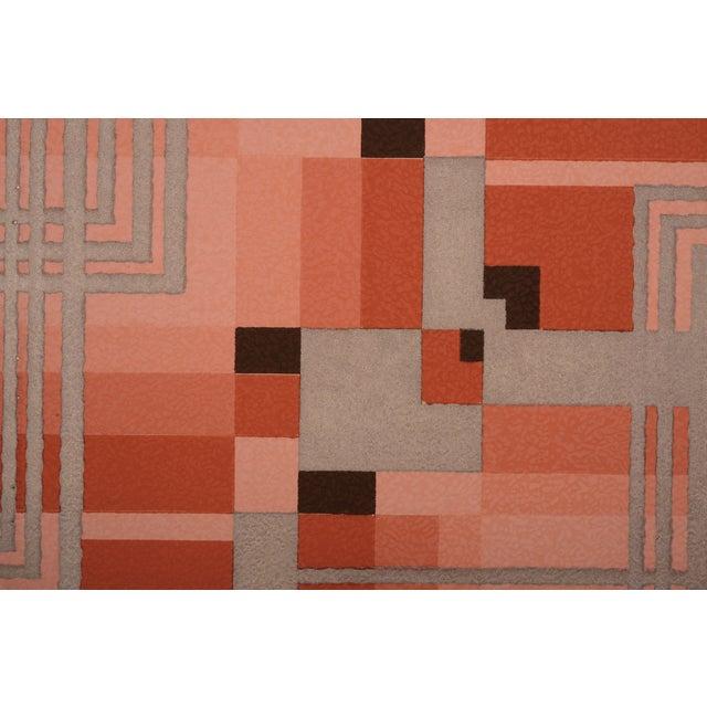 Silver Art Deco Geometric Wallpaper Sample - Image 1 of 2