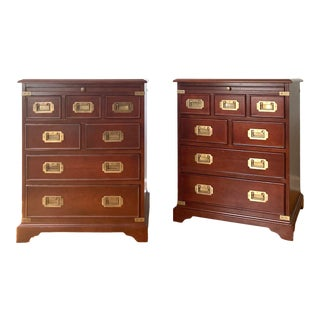 Cherry Campaign Chests - a Pair For Sale