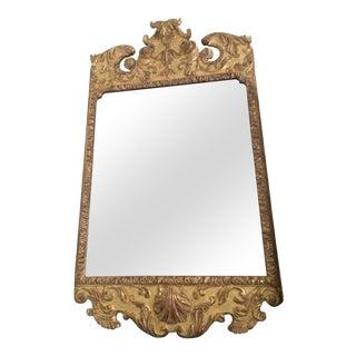 George II Giltwood Mirror For Sale