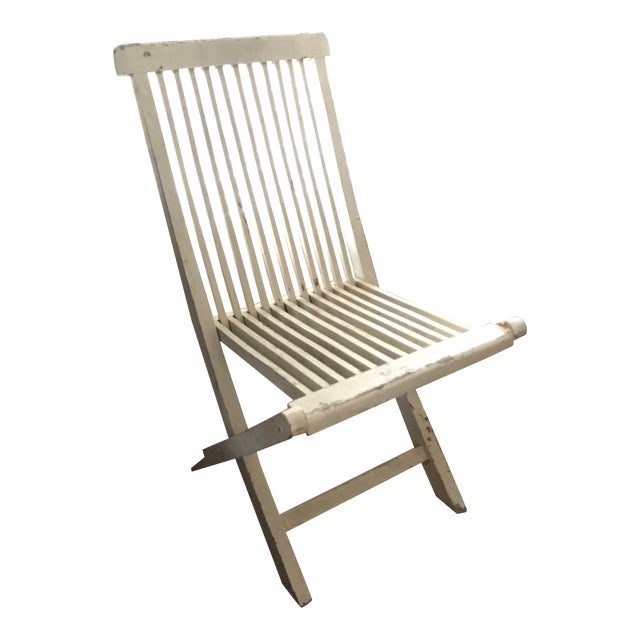 Late 19th Century Antique Swedish White Chair For Sale