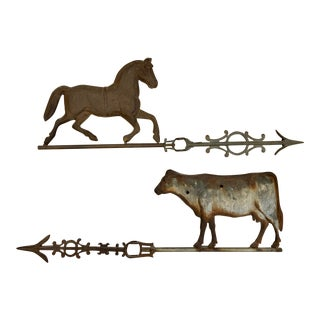 Antique Horse & Cow Weathervanes - Sold Separately For Sale