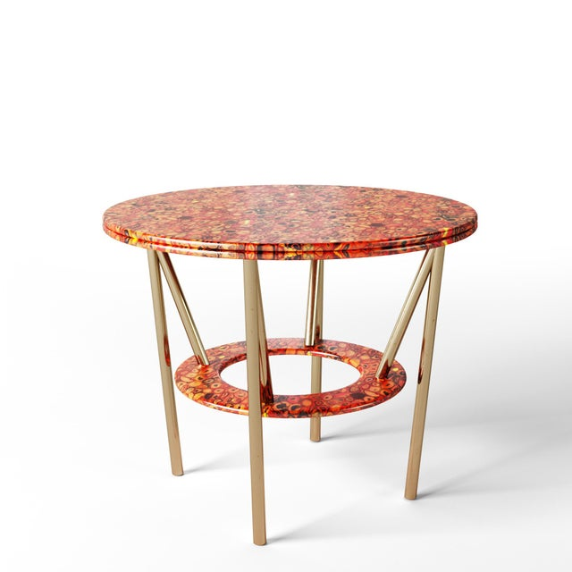21st Century Custom Made Contemporary Around We Go Foyer Table For Sale In Chicago - Image 6 of 7